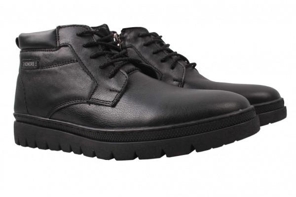 Ботинки Konors натуральная кожа, цвет черный