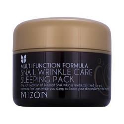 Ночная маска с 50 % муцина улитки Mizon Snail Wrinkle Care Sleeping Pack - 80 мл