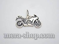 Кулон мотоцикл Honda из серебра