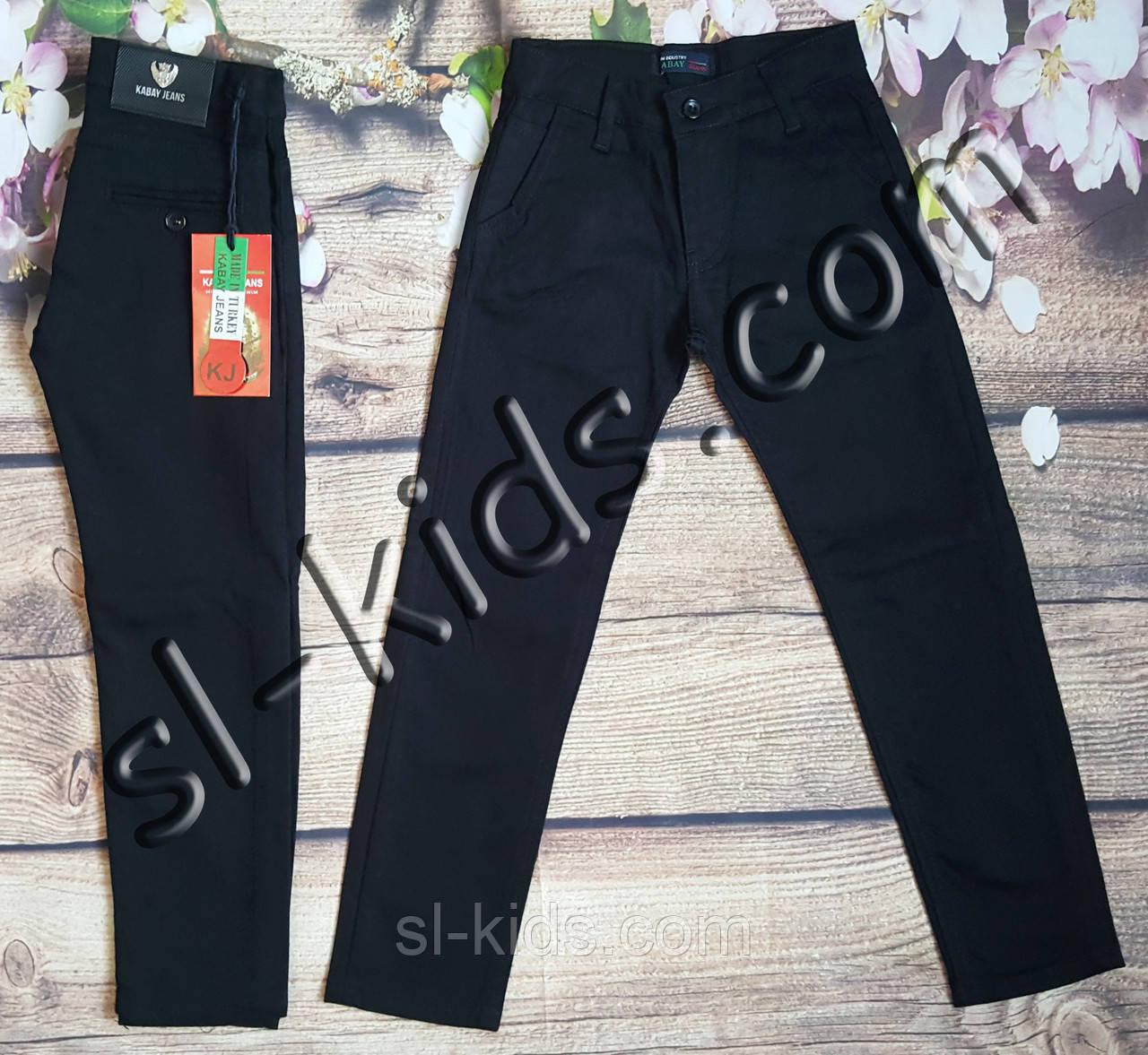 Штани,джинси на флісі для хлопчика 11-15 років опт (Kabay) (чорні 02) пр. Туреччина