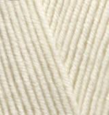 Пряжа для вязания Лана голд 01 крем