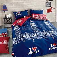 """Покрывало MARCEL """"Лондон"""" 210х220 см (CB0003442) Синие-красное"""