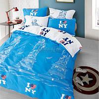 """Покрывало MARCEL """"Нью-Йорк"""" 210х220 см (CB0003437) Голубое-белое"""