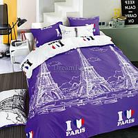 """Покрывало MARCEL """"Париж"""" 210х220 см (CB0003440) Фиолетовое-белое"""