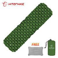 Надувной коврик для туризма Hitorhike + подушка в подарок!