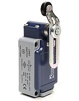 Выключатель концевой с пластиковым роликом d=18mm с корот. изогн. рычагом и возможностью регулировки (1НО+1НЗ)