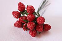 Декоративные ягоды малины 6 шт/уп., фото 1