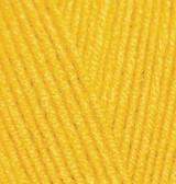 Пряжа для вязания Лана голд 216 желтый