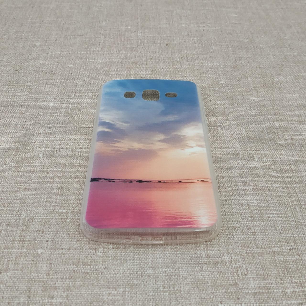 Чехол Silicon Foto Samsung G7102 sunset