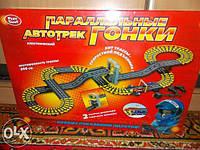 ДЕТСКИЙ АВТОТРЕК 0817 'ПАРАЛЛЕЛЬНЫЕ ГОНКИ' скоростной подъемник
