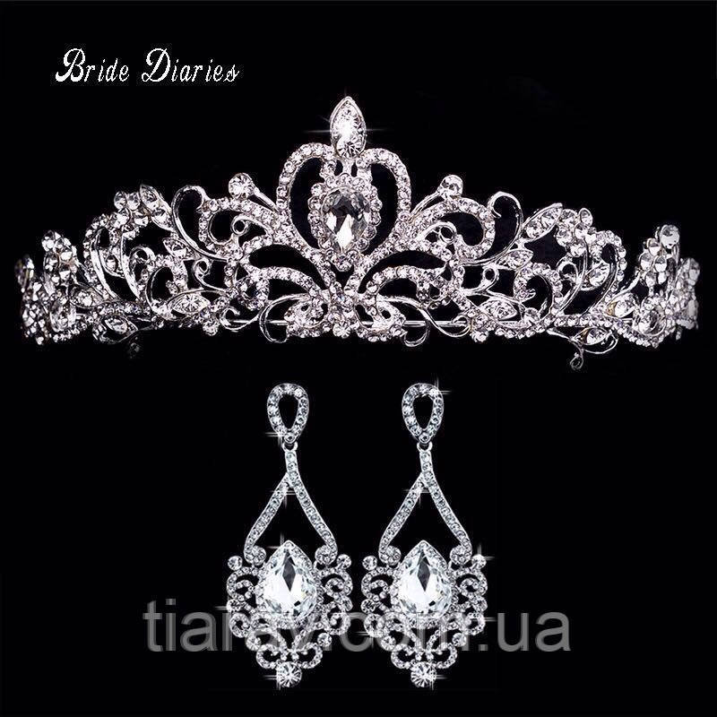 Корона и серьги набор ДОМИНИКА украшения бижутерия аксессуары - Украшения  для волос - Интернет магазин Tiarav 1e3c01a77b7