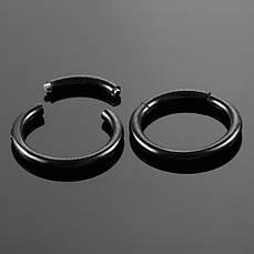 Кольцо сегментное хир. сталь, черный