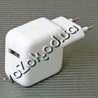 Сетевое зарядное устройство переходник адаптер USB 10W 5.1V/2.1A для iPad/iPods, фото 1