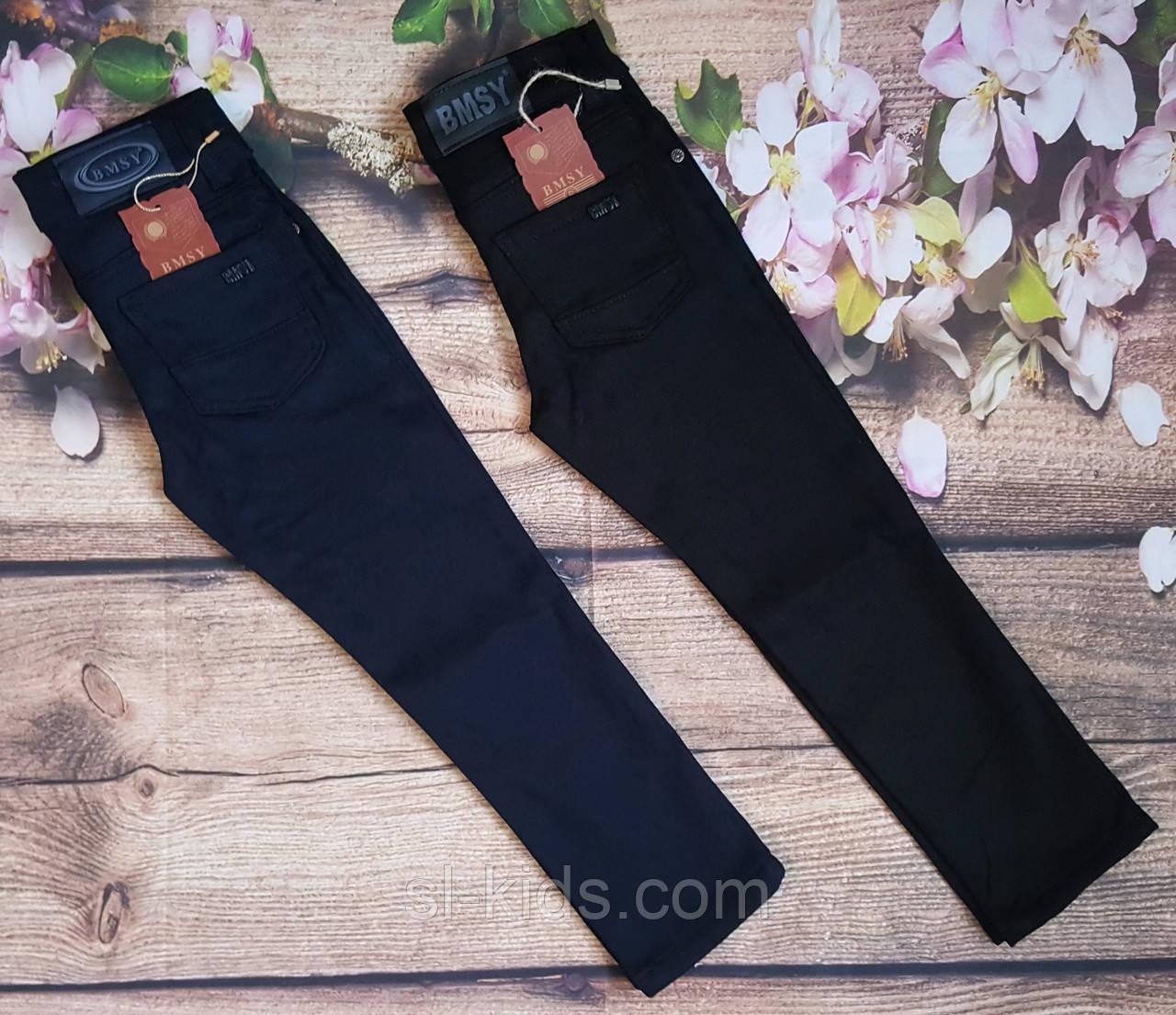 Штаны,джинсы на флисе для мальчика 12-16 лет(черные) (опт) пр.Турция