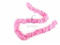 """Тканевая гирлянда """"Romulea"""" для праздничного декора,розовая, длина 1.5м, Праздничный декор  для праздника"""