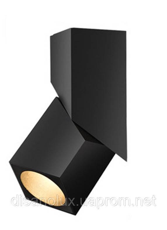 Светильник светодиодный накладной  COB LED  LWQ-0101 12W, 6000K, Черный