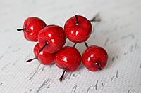 Декоративные яблочки 144 шт/уп. красного большие Польша оптом