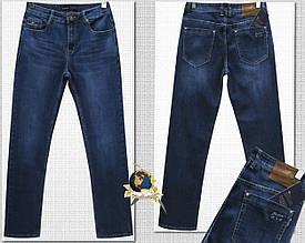 Джинсы мужские прямые классические тёмно-синего цвета LiFeng 36 размер