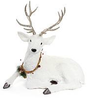 Декоративная фигура Олень, цвет: белый 67 см