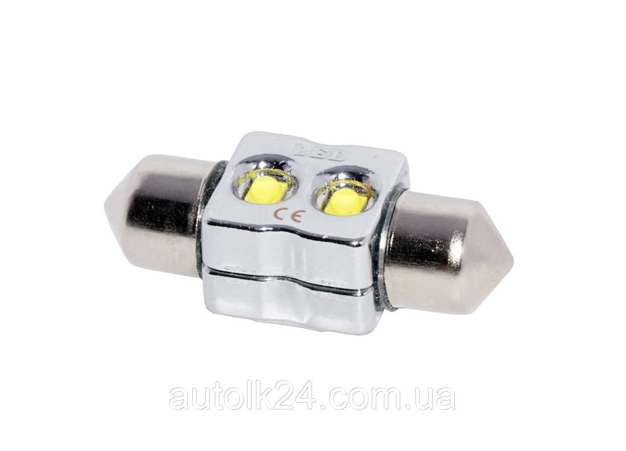 LED лампа C5W 31мм 2 SMD CREE XB-D 6W 12V Супер яркие +50%