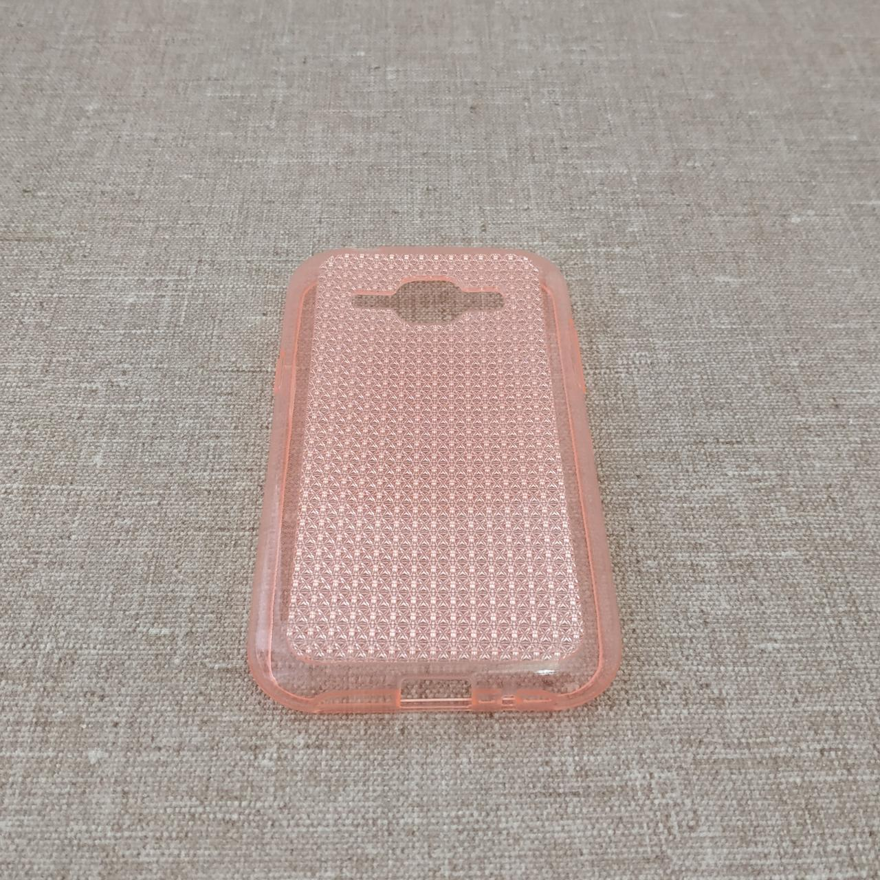 TPU Diamond Shine Samsung Galaxy J100 pink Для телефона