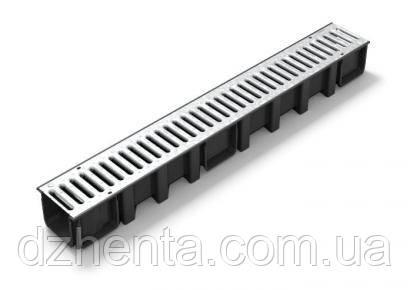 Дренажный канал с металлической решеткой системы CONNECTO