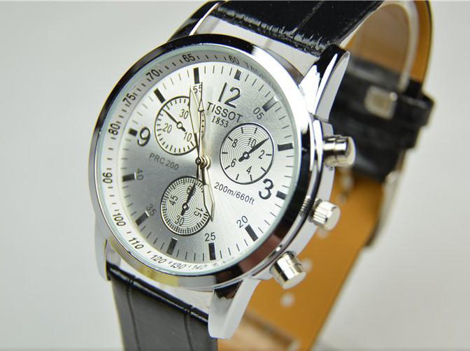Мужские часы TISSOT PRC200 (копия) с белым циферблатом
