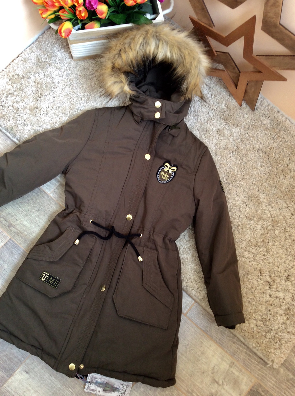 Парка куртка от Zena для девочек 9-12 лет оптом и в розницу Турция