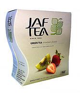 Чай зеленый с ароматом клубники и киви Jaf Tea strawberry & kiwi 100 г