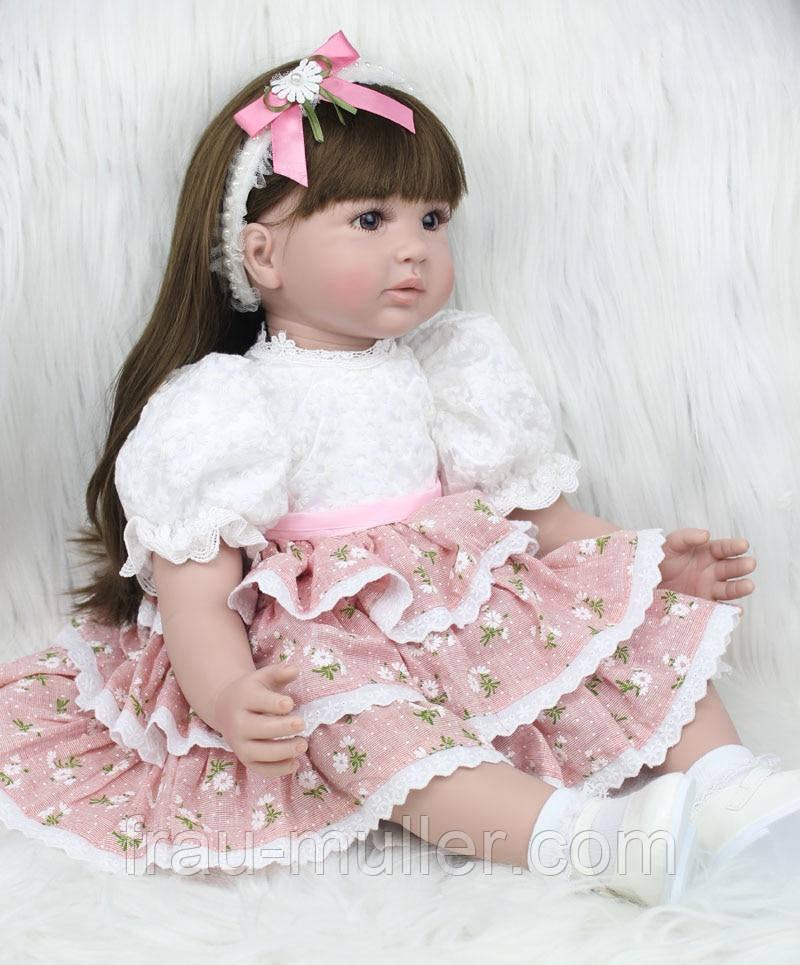 Кукла реборн девочка Адора 55 см в дорогом красивом платье , фото 1
