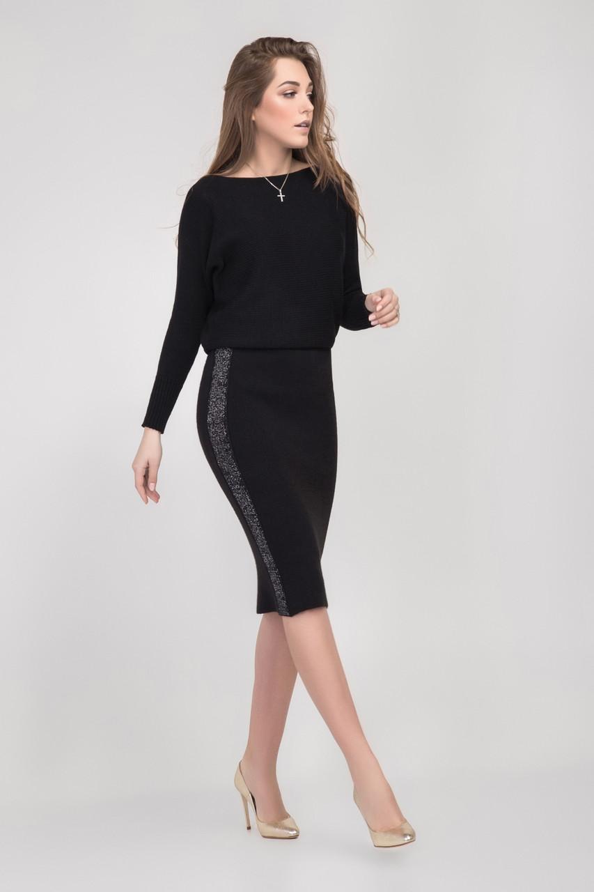 Ультра модная женская юбка-карандаш вязанная