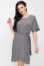 Женское трикотажное однотонное платье с поясом (Daniela fup), фото 2