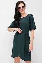 Женское трикотажное однотонное платье с поясом (Daniela fup), фото 3