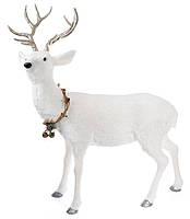 Новогодняя фигура Олень, цвет: белый 120 см