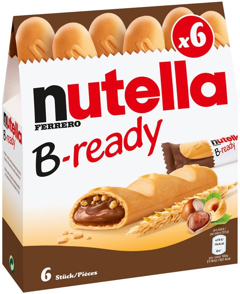 Батончики B-ready с шоколадно-ореховым кремом Nutella, 132 г.