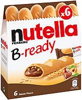 Батончики B-ready с шоколадно-ореховым кремом Nutella, 132 г. , фото 1