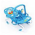 Детский шезлонг качалка BT-BB-0001 (голубой), фото 4