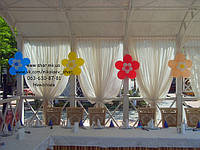 Цветы из воздушных шаров для украшения зала. Николаев., фото 1