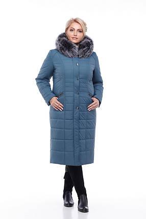 0c3f1d6547b0 Зимнее пальто с натуральным мехом песца, фото 2