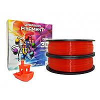 Красный PLA пластик для 3D печати (1,75 мм/0,5 кг)