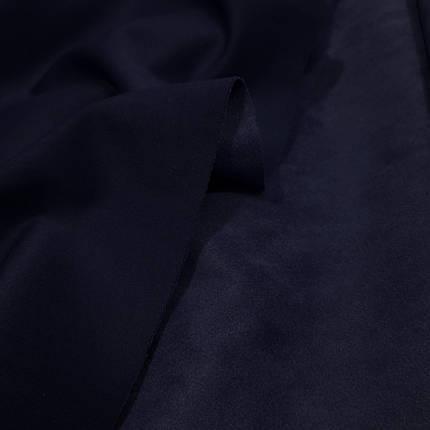 Замша стрейч на дайвинге темно-синяя, фото 2
