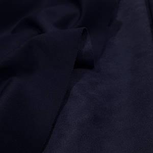 Замша стрейч на дайвинге темно-синяя