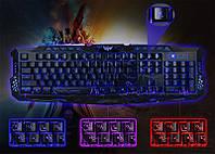 Компьютерная игровая клавиатура с 3-х цветной подсветкой M-200, фото 1