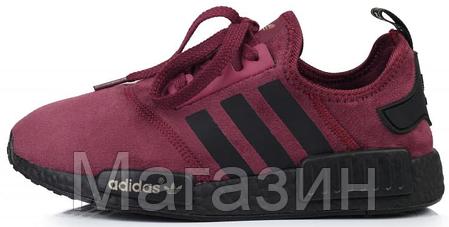 5e273f43bdbd Женские кроссовки Adidas NMD Runner Suede Dark Red Адидас НМД бордовые,  фото 2
