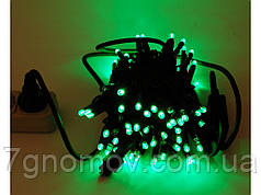 Гірлянда Flash-String Лиихай CHSTANDART чорний кабель зелений т/б 10м 100діодів