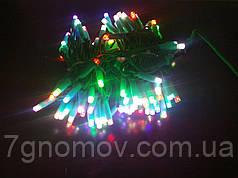 Гірлянда світлодіодна Flash-String Ялинка України RAINBOW зелений кабель 10м 100 діодів 220В