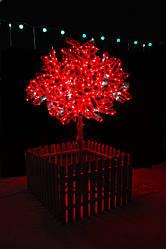 Світлове дерево Ялинка України Сакура з огорожею