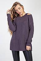 Модный женский джемпер удлиненный оригинальный