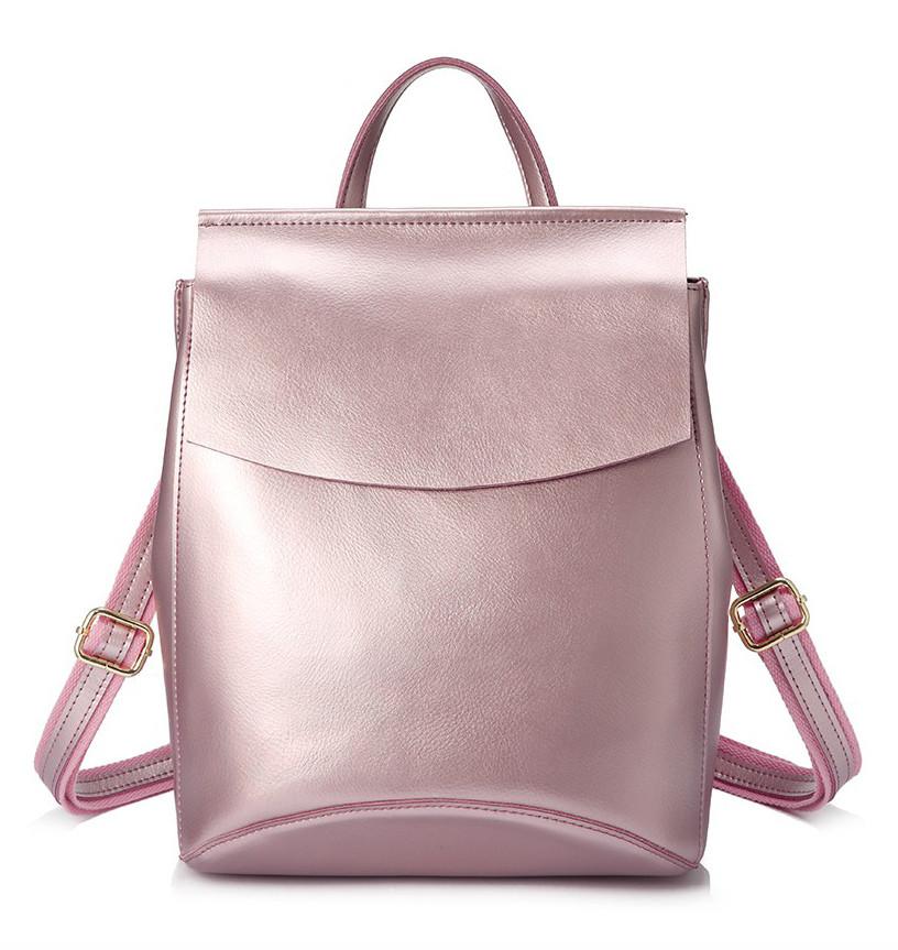 Рюкзак сумка трансформер женский кожаный (перламутрово-розовый) - Интернет- магазин «VINGO 4206cbacf95
