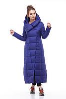 Женская модная зимняя очень теплая куртка пуховик длинная 42 - 54 большие размеры